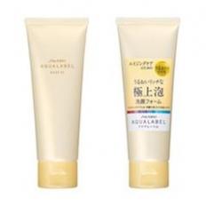 Sữa rửa mặt dưỡng da, tái tạo, phục hồi da hư tổn Shiseido Aqualabel wash EX màu vàng